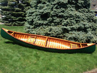 14 Foot Tremblay Cedar Strip Canoe For Sale