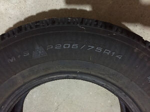 Two Goodyear Nordic 205/75R14 Winter Tires London Ontario image 3