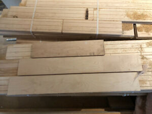 "Maple Hardwood - 3 1/4"" x 3/4"" thick select or better unfinished"