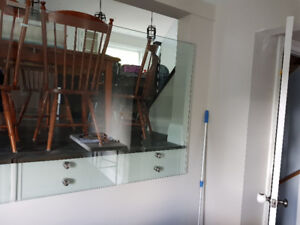 Glass railing with pins