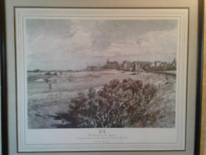 38x33 inch painting of Old St. Andrews Golf Course