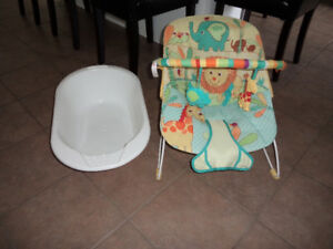 Baby play seat and tub