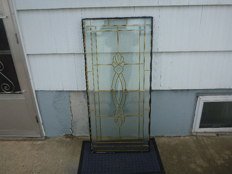 For sale 3 4 leaded glass door insert o b o for Windows doors for sale