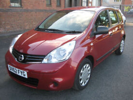 """2012/62 Nissan Note 1.5dCi A/C Visia in Met Wine Red """" ONLY """"£2995"""""""