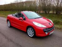 2008 PEUGEOT 207 CC 1.6 16v 120 COUPE GT, CONVERTIBLE, BRIGHT RED, AIRCON