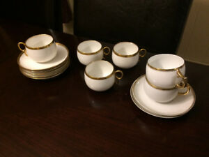 Cups and Saucers, 4 Limoges of France, plus 2 more