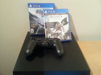 Ps4 console with 3 games and one controller