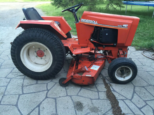 Case Lawn Mowers : Case ingersoll hydriv lawn tractor pto with rototiller