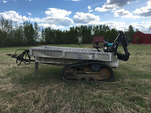 Trailer three point backhoe pintle hitch