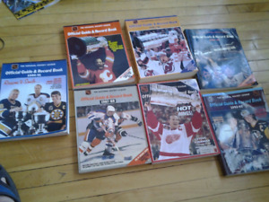 7 OFFICIAL NHL GUIDE RECORD BOOKS 7 FOR 5$
