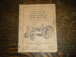 Massey Harris 44 Diesel Tractor Operating and Service Manual