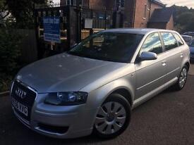2006 Audi A3 1.6 SPORTBACK Silver FSH Cambelt Changed Long MOT Finance Available