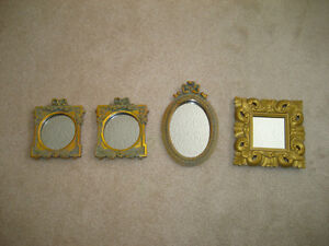 The Bombay Company Mini Mirrors - set of 4