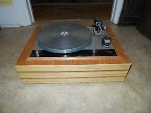 Vintage Thorens TD-160 Turntable on custom plinth.  AWESOME!