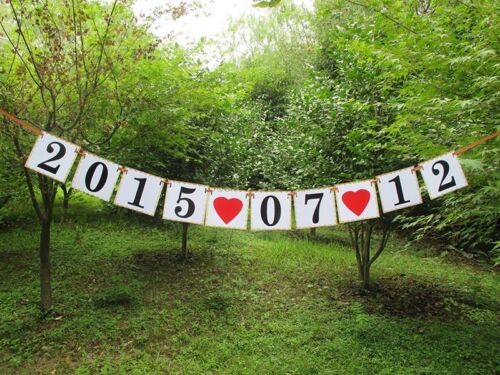 Happily Ever After Banner Vintage Wedding Date Signs Banner Garland Braidal Show