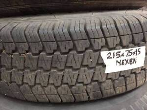 """215/75/R15 Tyres. 15"""" wheels and tyres 6 Stud 215 75 R15 Good Nerang Gold Coast West Preview"""