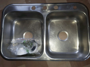 Stainless Steel Sink & 2 New drains