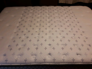 Head Board and Mattress and box spring Sold pending pick up.