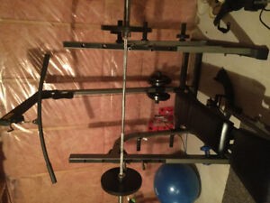 Olympic Weight Bench and Set