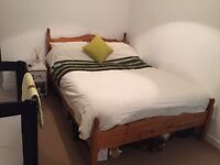 Wooden Double Bed Frame with or without free mattress