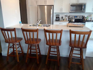 Four Bar Stools; great condition!