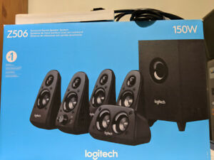 Barely Used Logitech Z506 5.1 Surround Sound Computer Speakers