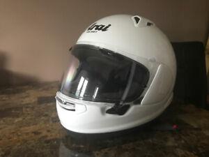 Arai White Helmet