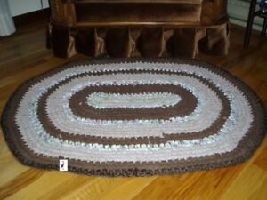 Crochet Fabric Yarn Rug  - Hand Made - New