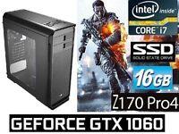 "Genuine Bargain, Too Good to be True ""Skylake"" Core i7-6700K Gaming PC Desktop Computer"
