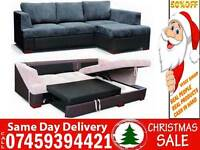 BRAND NEW JUMBO FABRIC CORNER SOFA SETTEE WITH STORAGE SOFA BED