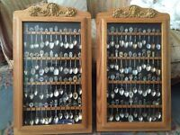 Handcrafted Wood Spoon Racks / Cabinet including Spoons
