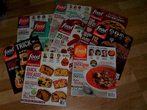 Bunch of Food Network Magazines