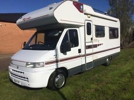 Fiat Ducato motorhome 2.5 diesel 4 berth 1995 Reg shower toilet excellent condition low miles awning