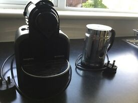 Nespresso Magimix coffee maker and milk frothier.