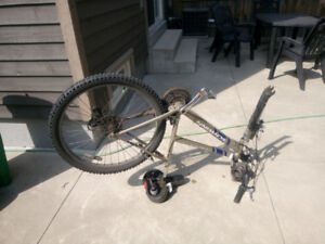 Bike missing front wheel... tune up done, new parts... $50