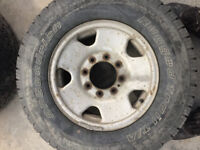 """Ford f250 8 Stud 17"""" Rims and Tires"""