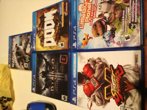 Gently used PS4 Games