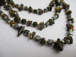Hematite and Tiger Eye Necklace