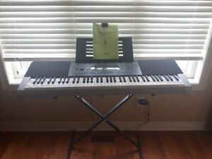 Casio Keyboard WK-240 wstand and songbook for Sale, barely used!