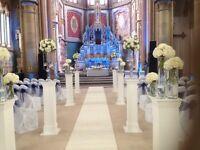 Ivory carpet wedding aisle runner