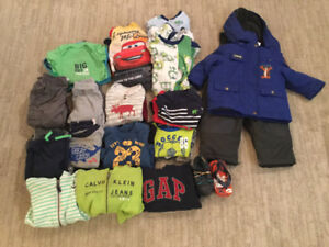 Boys size 12months clothing with snowsuit
