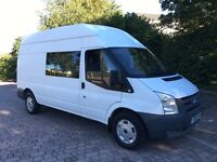 2008 Ford Transit 2.4 TDCi 350 LWB 9 Seat Crew Cab/Minibus, HIGH ROOF, TOW BAR, NO VAT