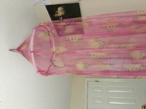 Cute pink monkey princess canopy mosquito net Disney monopoly