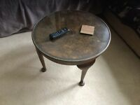 Antique brown coffee table
