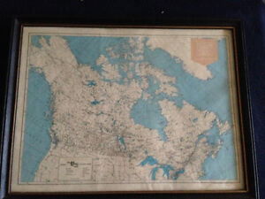 VINTAGE 1974 MAP OF THE HUDSON'S BAY STORES IN NORTHERN CANADA