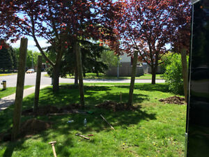 Post Hole Digging in the Area.  Fences built or Deck Footings Cambridge Kitchener Area image 3