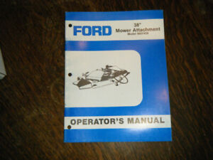 "Ford 38"" Mower Attachment Operators Manual 9607439"