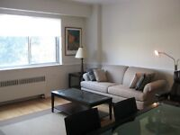 Downtown Montreal, large 2 bedrm 2 baths,garage, heat &hot water