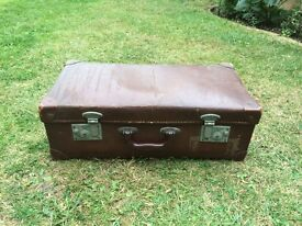 Vintage brown suitcase for sale