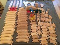 Wooden train rails track bundle 102 pieces!